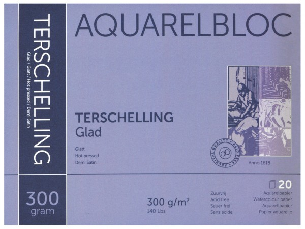 Aquarellblock TERSCHELLING Glatt Format 30 x 40 cm