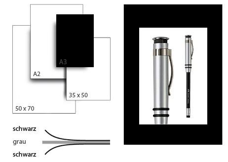 Präsentationskarton grafikColor / Format A3 / 25 Bogen / schwarz-schwarz