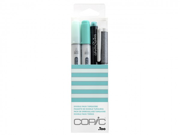 COPIC® ciao Marker 4er Set / Doodle Pack Turquoise