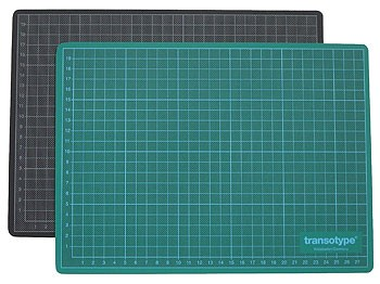 Schneidematte grün / schwarz 45 x 60 cm