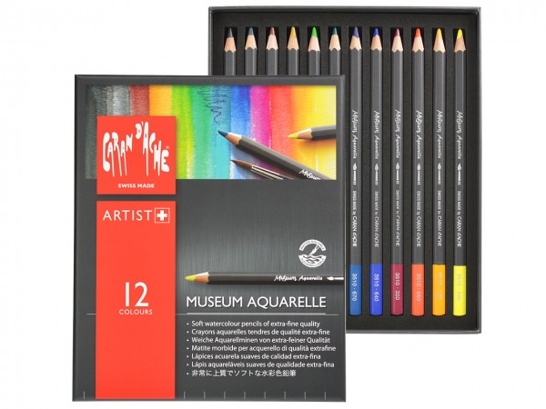Farbstifte Museum Aquarell, Set mit 12 Farben