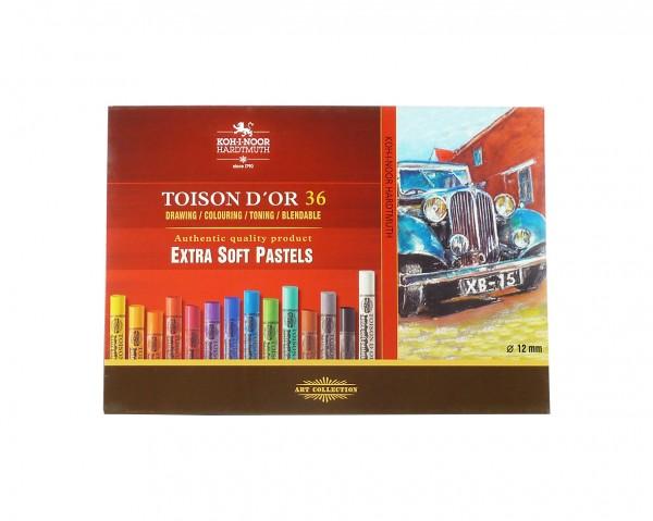 Toison D'Or extra weiche Pastellkreiden / Set mit 36 Farben
