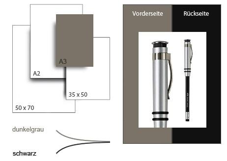 Präsentationskarton DuoChart 3 / Format A3 / 25 Bogen / dunkelgrau-schwarz