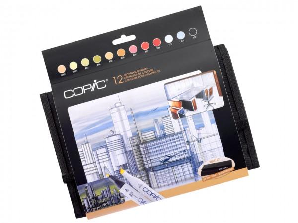 COPIC® Marker, WALLET mit 12 Architekturfarben