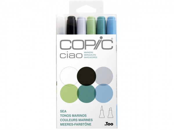 COPIC® ciao Marker 6er Set / Sea