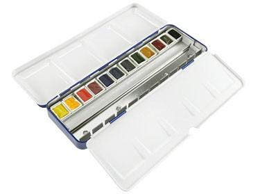 Aquarell Malkasten Winsor & Newton BLUE BOX mit 12 Cotmann Farben