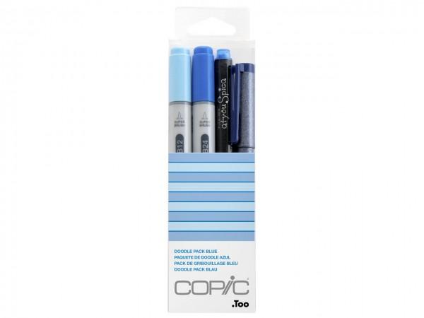 COPIC® ciao Marker 4er Set / Doodle Pack Blue
