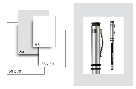 Präsentationskarton SeriTone 1 / Format A2 / 25 Bogen / hellgrau-weiss