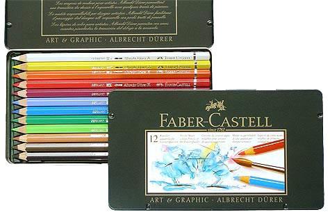 Farbstifte Albrecht Dürer, Set mit 12 Farben in einer Metallschachtel