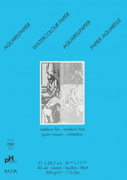 Aquarellblock Studio Format A4 (21 x 29.7 cm)