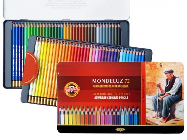 Farbstifte Mondeluz, Metallschachtel mit 72 Farben