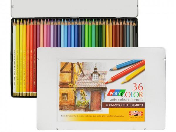 Farbstifte Polycolor, Metallschachtel mit 36 Farben