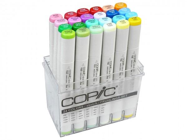 COPIC® sketch Marker, Set mit 24 Frühlingsfarben