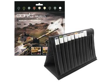 COPIC® sketch Marker, WALLET mit 8 Camouflage Farben und Blender