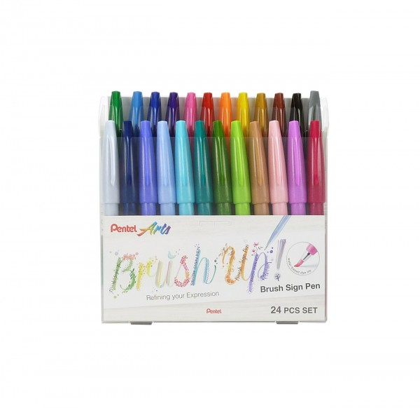Pentel Brush Sign Pen, 24 Farben