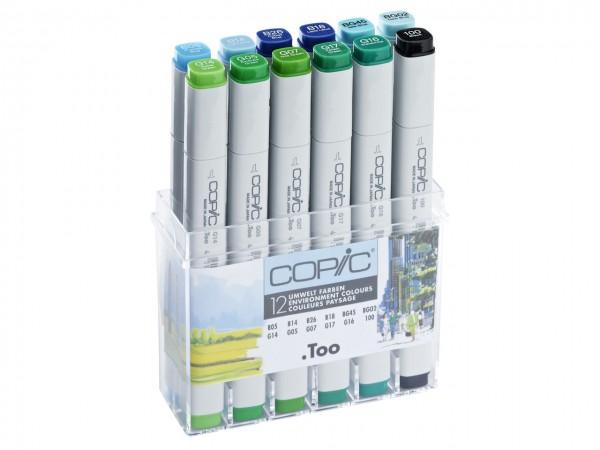 COPIC® Marker, Set mit 12 Umweltfarben