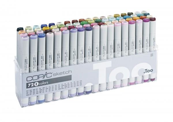 COPIC® sketch Marker, Set E mit 72 Farben