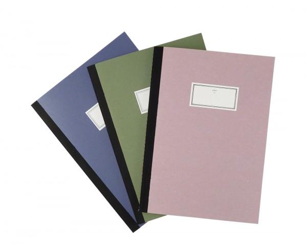 Schreibheft mit farbigem Umschlag