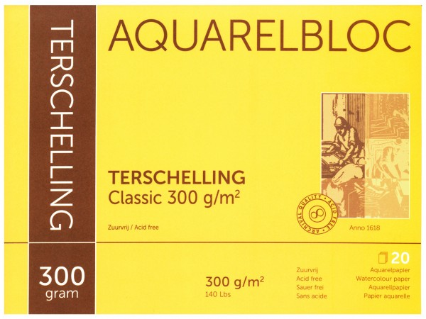 Aquarellblock TERSCHELLING Classic Format Postkarten A6
