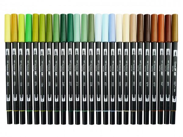 TOMBOW® ABT Dual Brush Pen, 25 Garten-Landschaftsfarben