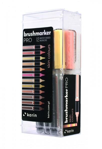 Karin Brushmarker PRO Set mit 12 Farben, Skin Colours
