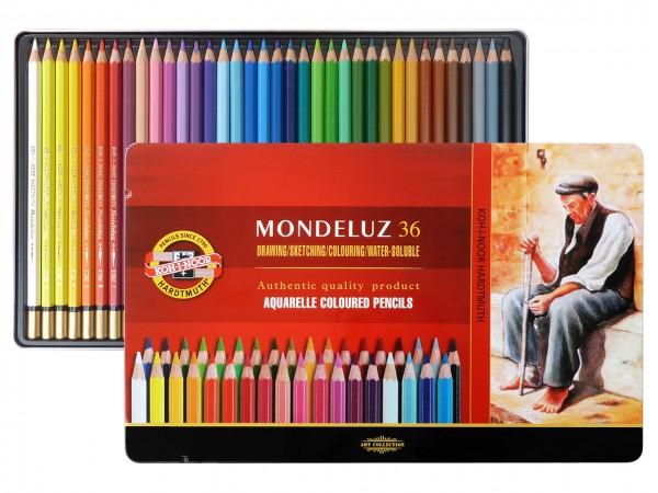 Farbstifte Mondeluz, Metallschachtel mit 36 Farben