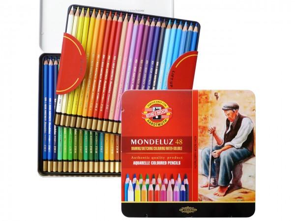 Farbstifte Mondeluz, Metallschachtel mit 48 Farben