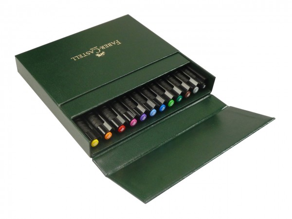 Faber-Castell PITT artist pen Brush Atelierbox mit 12 Farben