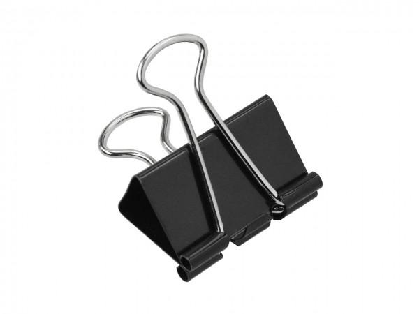 Umlege-Klammern schwarz 19 mm / Pack mit 10 Stück