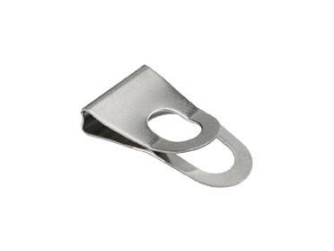 Japan Clip silber 10 mm / Pack mit 10 Stück