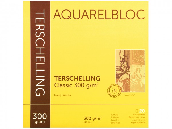 Aquarellblock TERSCHELLING Classic Format 30 x 30 cm