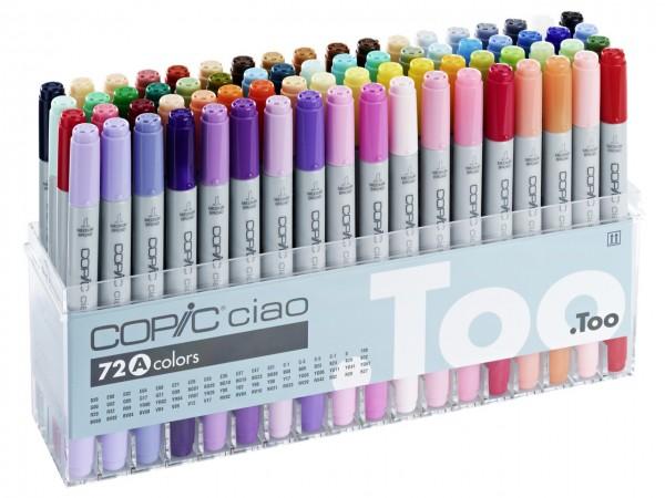 COPIC® ciao Marker, Set A mit 72 Farben