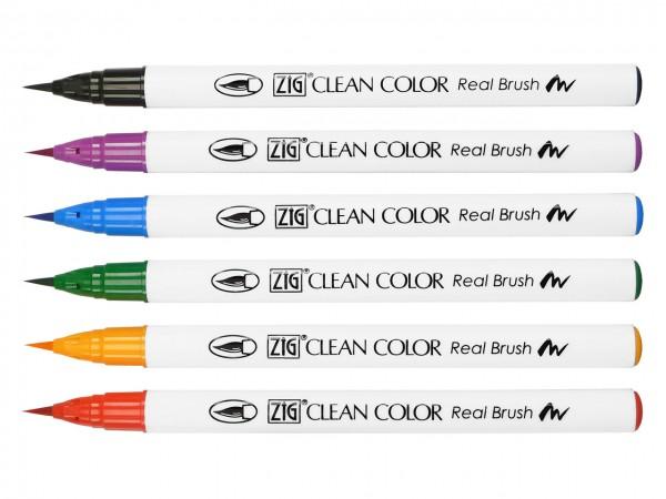 ZIG® Clean Color Real Brush Pen 6er Set