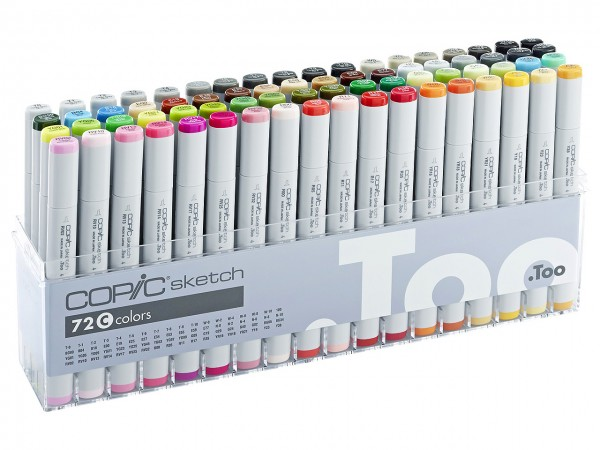 COPIC® sketch Marker, Set C mit 72 Farben