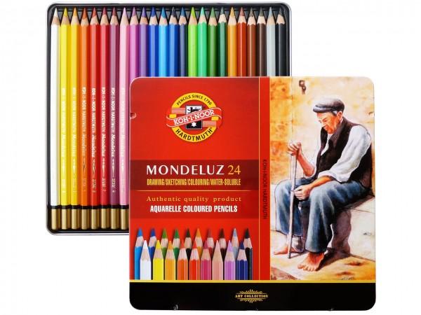 Farbstifte Mondeluz, Metallschachtel mit 24 Farben
