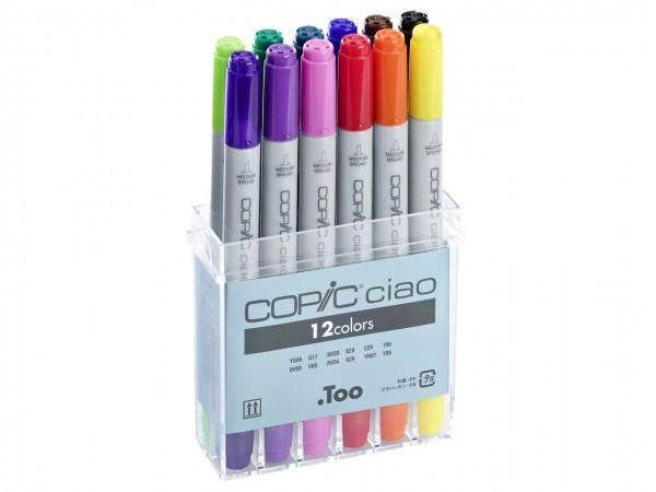 COPIC® ciao Marker, Set mit 12 Grundfarben