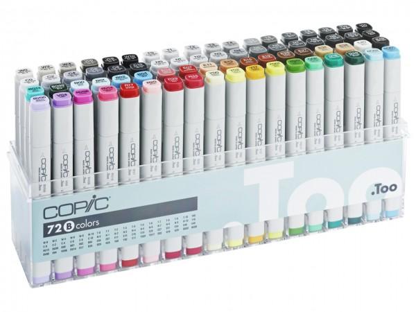 COPIC® Marker, Set B mit 72 Farben