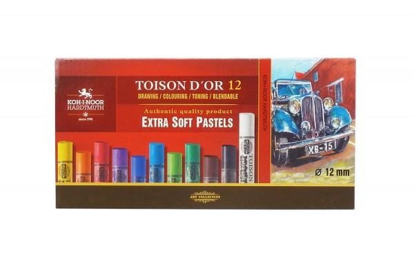 Toison D'Or extra weiche Pastellkreiden / Set mit 10 Grundfarben
