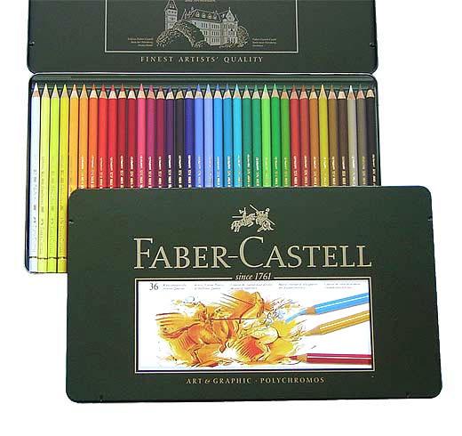Farbstifte Polychromos, Set mit 36 Farben in einer Metallschachtel