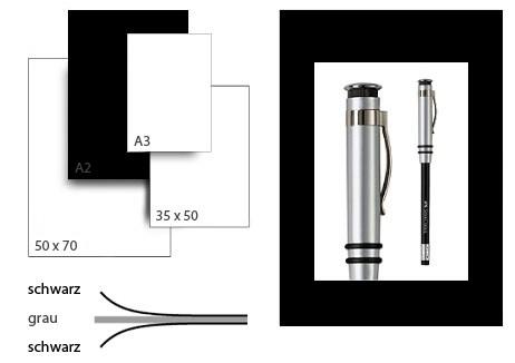 Präsentationskarton grafikColor / Format A2 / 25 Bogen / schwarz-schwarz
