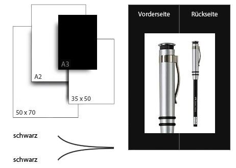 Präsentationskarton DuoChart 4 / Format A3 / 25 Bogen / schwarz-schwarz