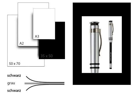 Präsentationskarton grafikColor / Format 35 x 50 cm / 10 Bogen / schwarz-schwarz