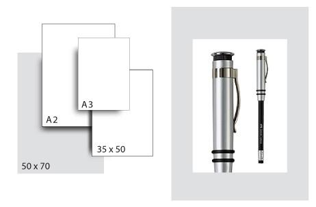 Präsentationskarton SeriTone 1 / Format 50 x 70 cm / 50 Bogen / hellgrau-weiss