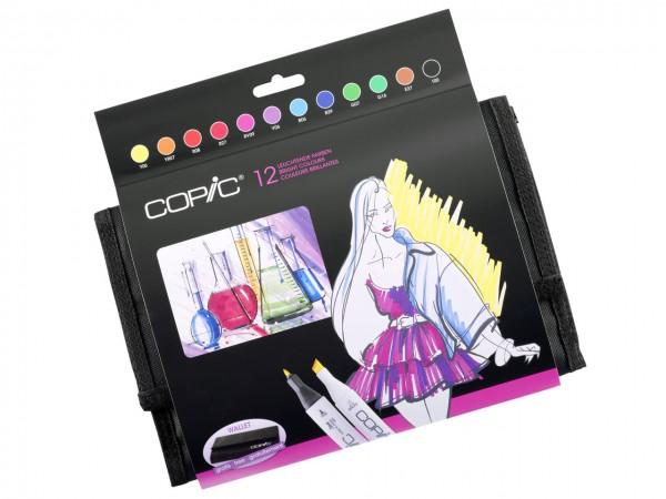 COPIC® Marker, WALLET mit 12 leuchtenden Farben