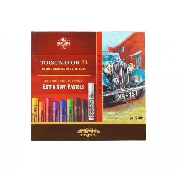 Toison D'Or extra weiche Pastellkreiden / Set mit 24 Farben