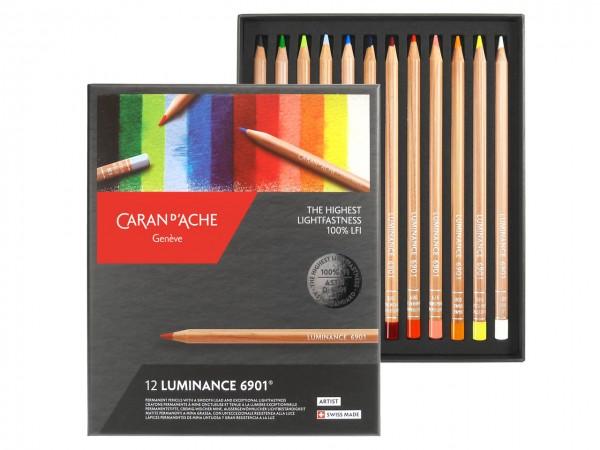 Farbstifte Luminance 6901®, Set mit 12 Farben