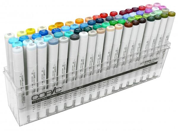 """COPIC® sketch Marker, Set """"Jahreszeiten"""" mit 71 Farben + Blender"""