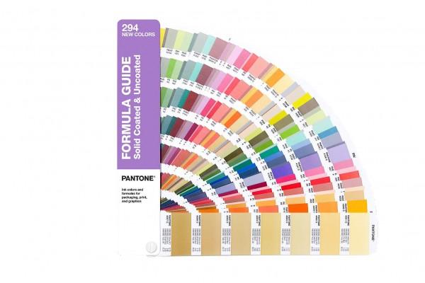 PANTONE® PLUS SERIES FORMULA GUIDE SET, Ergänzung mit 294 neuen Farben coated / uncoated
