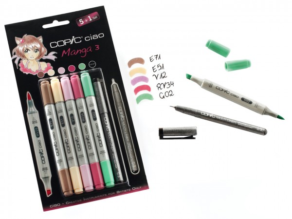 COPIC® ciao Marker, Aktionsset 5 + 1 / Manga 3