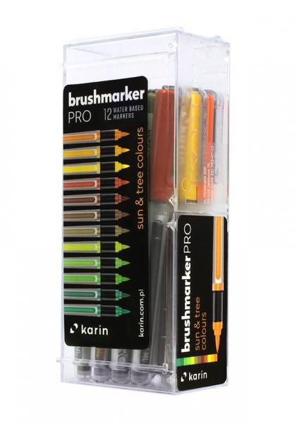 Karin Brushmarker PRO Set mit 12 Farben, Sun & Tree